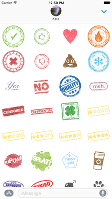 InkStamp sticker pack screenshot
